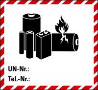 Gefahrgutaufkleber: Lithiumbatterien, selbst gestalten - ADR / Sondervorschrift 188