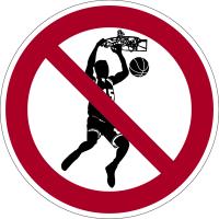 Verbotszeichen, No Dunking - praxisbewährt