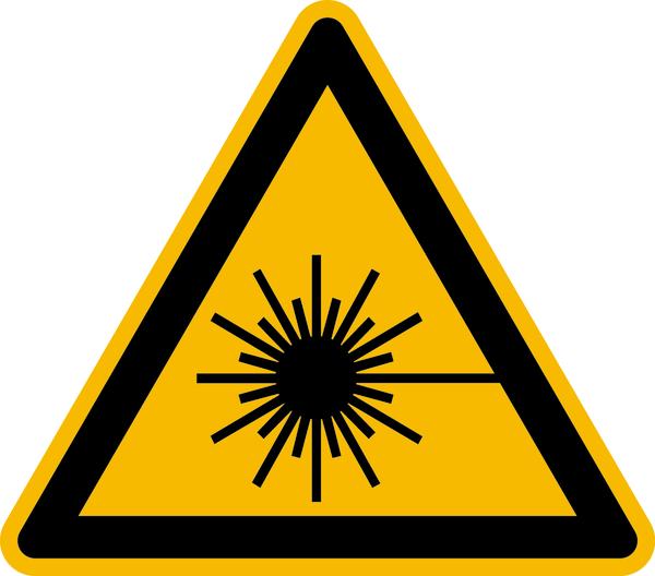 Warnzeichen, Warnung vor Laserstrahl W004 - ASR A1.3 (DIN EN ISO 7010)