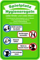 Spielplatzschild, Hygieneregeln, Aluverbund, 600 x 400 mm