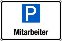 Parkplatzschild, Mitarbeiter, 200x300mm, Aluverbund
