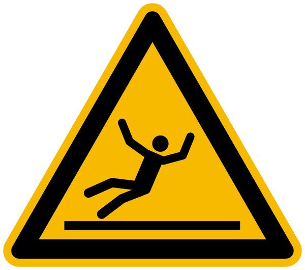 Warnzeichen, Warnung vor Rutschgefahr W011 - ASR A1.3 (DIN EN ISO 7010)