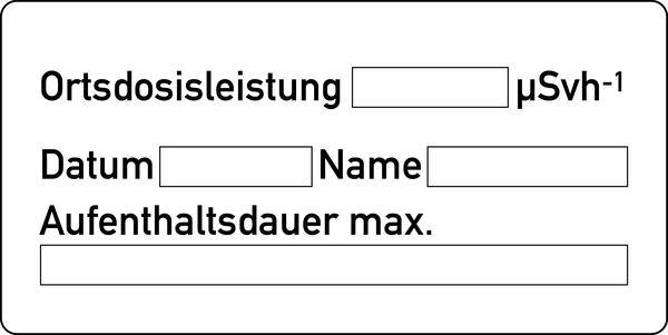 Warnschild Strahlenschutz Aufenthaltsdauer (ZS 20)