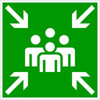 Rettungszeichen, Sammelstelle E011 - DIN 4844