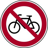Verbotszeichen, Fahrrad verboten - praxisbewährt