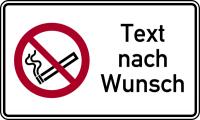 Kombischild, Rauchen verboten + Text nach Wunsch, 150 x 250 mm