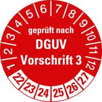 Prüfplaketten gemäß DGUV