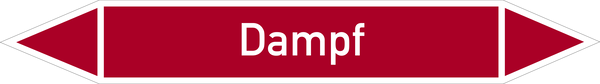 Rohrleitungskennzeichnung: Dampf
