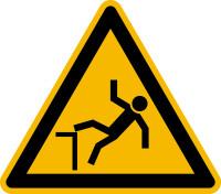 Warnzeichen, Warnung vor Absturzgefahr D-W015 - DIN 4844/BGV A8