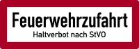 Brandschutzzeichen, Feuerwehrzufahrt Haltverbot - DIN 4066