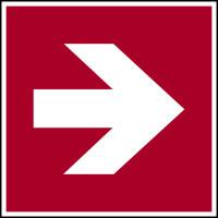 Brandschutzzeichen, Richtungspfeil gerade - ASR A1.3 (DIN EN ISO 7010)