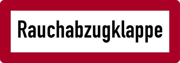 Brandschutzzeichen, Rauchabzugklappe - DIN 4066