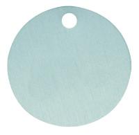 Kennzeichnungsmarke, Aluminium eloxiert, blanko, Ø 20 - 60 mm