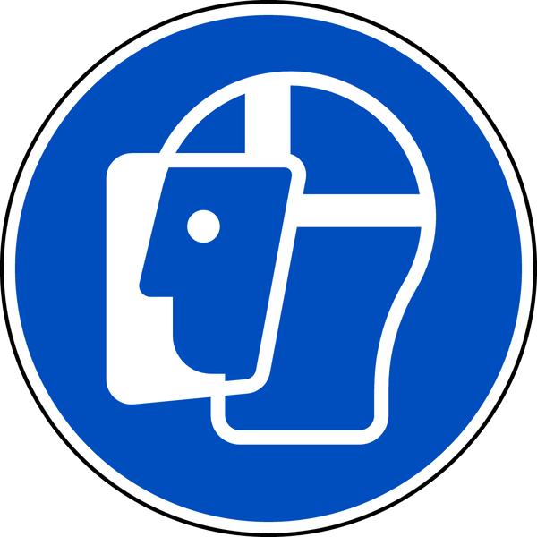 Gebotszeichen, Gesichtsschutz benutzen M013 - ASR A1.3 (DIN EN ISO 7010)