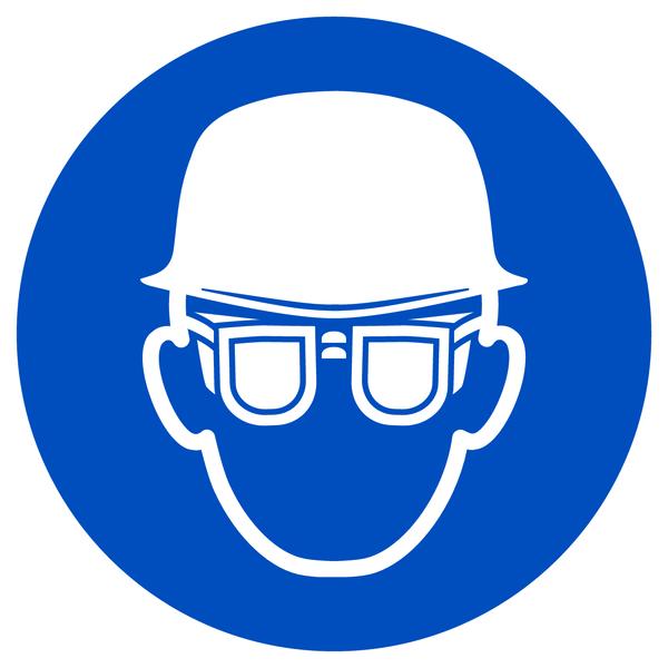 Gebotszeichen, Kopf- und Augenschutz benutzen - praxisbewährt