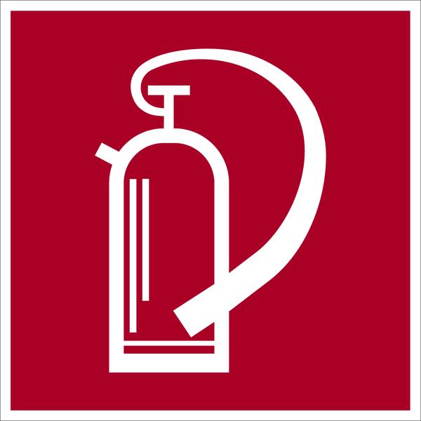 Brandschutzzeichen, Feuerlöscher D-F005 - DIN 4844