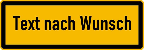Hinweisschild, Text nach Wunsch, schwarz/gelb