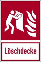 Brandschutzzeichen, Kombischild Löschdecke - ASR A1.3 (DIN EN ISO 7010)