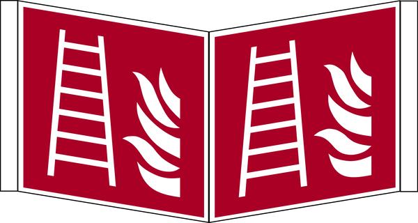 Brandschutzzeichen, Winkelschild Feuerleiter F003 - ASR A1.3 (DIN EN ISO 7010)