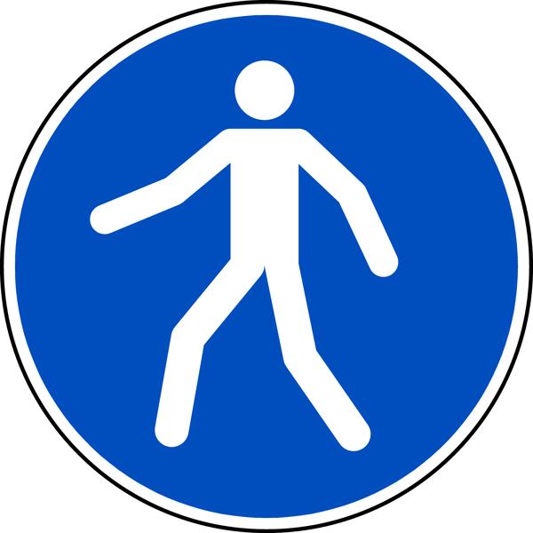 Gebotszeichen, Fußgängerweg benutzen M024 - ASR A1.3 (DIN EN ISO 7010)