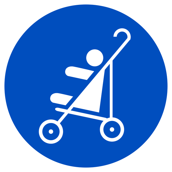 Kinderwagen erlaubt